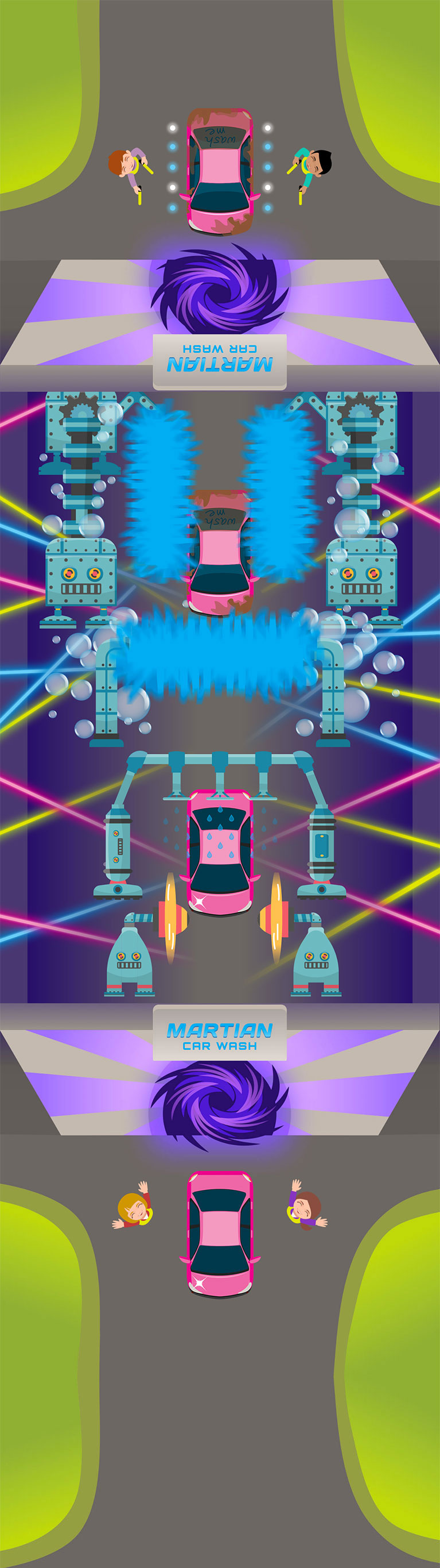 Martian Car Wash Tunnel Car Wash St Louis